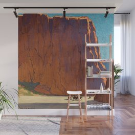 Sunset on the sandstone cliffs, Canyon de Chelly Landscape by Edgar Alwin Payne Wall Mural