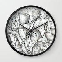 lace Wall Clocks featuring Lace by Irina  Mushkar'ova