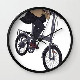 Cycling Back from Work Wall Clock