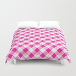 Heart Plaid Pattern Duvet Cover