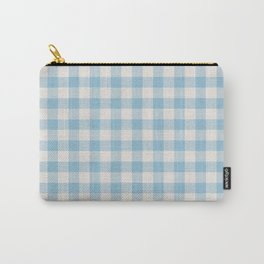 Modern 80s white pastel blue picnic print pattern Carry-All Pouch