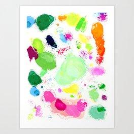 Messy Paint Palette Art Print