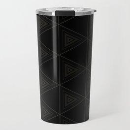 Modern Black Triangle Pattern Travel Mug