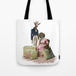 Funny Animal Couple Tote Bag