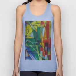 "Franz Marc ""Landscape with House and Two Cows (also known as Landscape with House, Dog and Cattle)"" Unisex Tank Top"