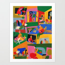 Neighbors Art Print