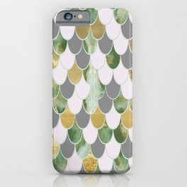 Oceanic Green Pink Gold Mermaid Scales FHLVLB iPhone Case