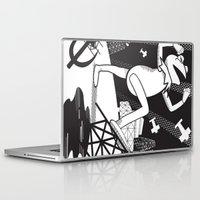 kermit Laptop & iPad Skins featuring Communist Kermit by Jada McGill