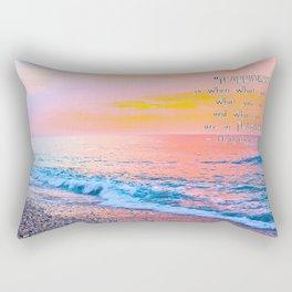 Happiness Quote Mahatma Gandhi Rectangular Pillow