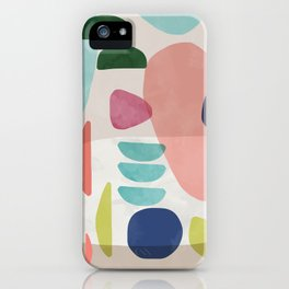Watercolor Bold Shapes iPhone Case