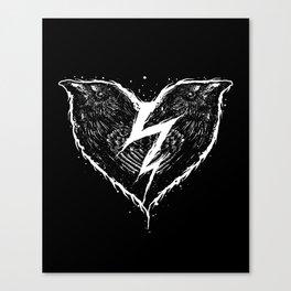 ravens heart Canvas Print