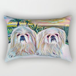 Peke sunset Rectangular Pillow