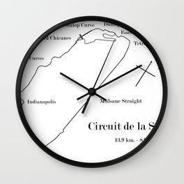 RennSport Shrine Series: la Sarthe Edition Wall Clock