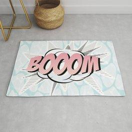 Water comics pastel boom Rug