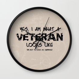 This is what a Veteran Looks Like Wall Clock