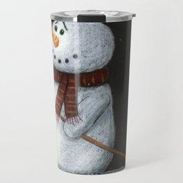Looking at the stars snowman Travel Mug