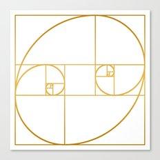 Golden Oval Canvas Print