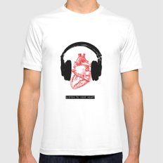 Listen to Your Heart Mens Fitted Tee White MEDIUM