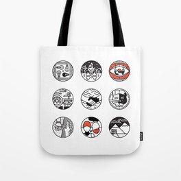 blurry icons Tote Bag