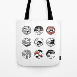 blurry icons Tote Bag