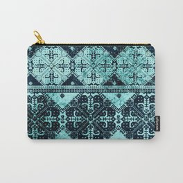 nordic tile star in teal Carry-All Pouch