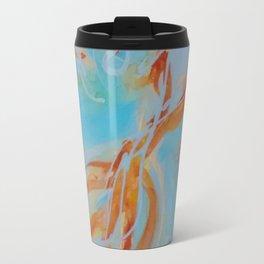 GoldFish Bubbles 1ne watercolor by CheyAnne Sexton Travel Mug