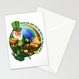 St. Patricks Day Leprechaun Catch Me.... Perfect Gift Shirt Stationery Cards