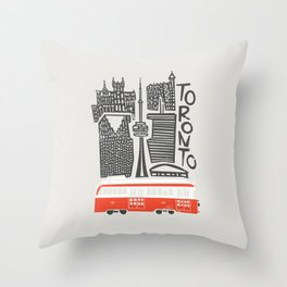 Toronto Cityscape Throw Pillow