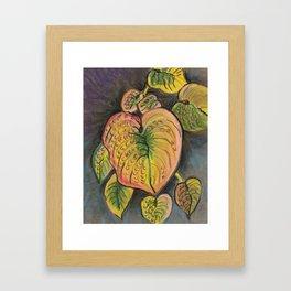 Hosta Leaves - Fall Framed Art Print