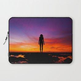 SUNRISE - SUNSET - WOMAN - BLACK - PHOTOGRAPHY Laptop Sleeve