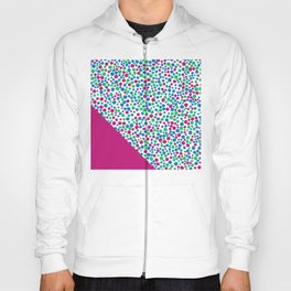 Pink, Blue and Green Abstract Pattern Hoody