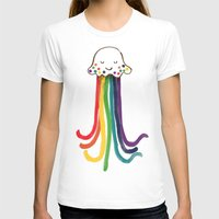 rainbow T-shirts featuring Rainbow Jellyfish by Picomodi
