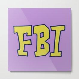 FBI Metal Print