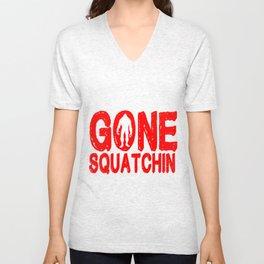 Gone squatchin Unisex V-Neck