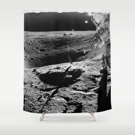 Apollo 16 - Moon Astronaut Crater Shower Curtain