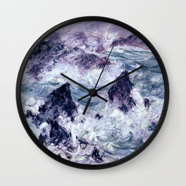 Monet : Storm At Belle Ile Wall Clock
