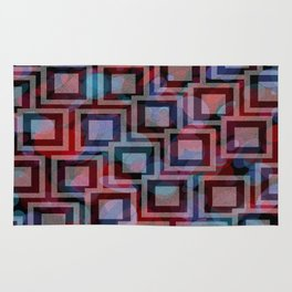 Black and White Squares Pattern 01 Rug