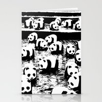 animal crew Stationery Cards featuring Crew by Panda Cool