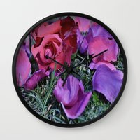 valentines Wall Clocks featuring Valentines  by Natalie Snowdon