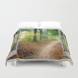 Window Tapestries Style Duvet Cover