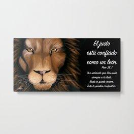León - Proverbios 28, 1 Metal Print