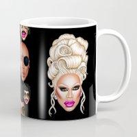 rupaul Mugs featuring RuPaul Blonde  by dannydax