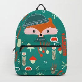 Cute fox waiting for Christmas Backpack