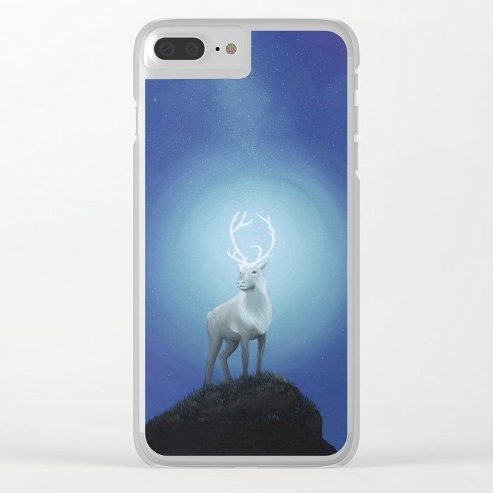 Silver Caribou Clear iPhone Case