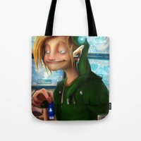 hyrule Tote Bags featuring HYRULE CORP. by zero-scarecrow13