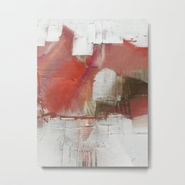 The Little Things: a minimal, abstract piece in reds and gold by Alyssa Hamilton Art Metal Print