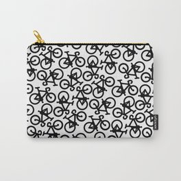 Black Bikes Pattern Carry-All Pouch