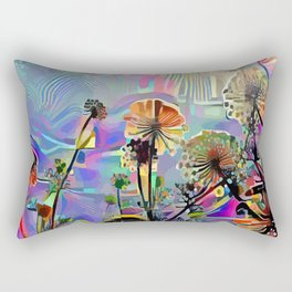 Fell Asleep Beneath the Flowers Rectangular Pillow