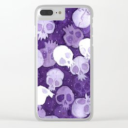 lilac pattern Clear iPhone Case