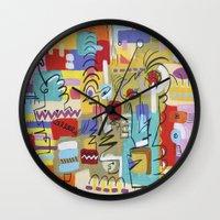 vampire weekend Wall Clocks featuring Weekend by tktinted